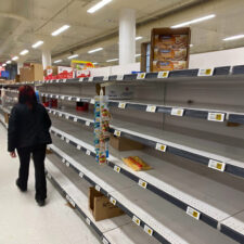 out-of-stock shelves